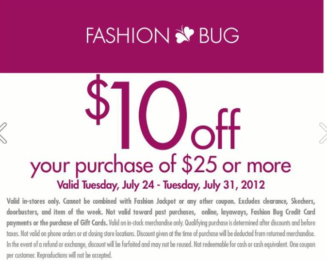 Fashion bug coupons printable