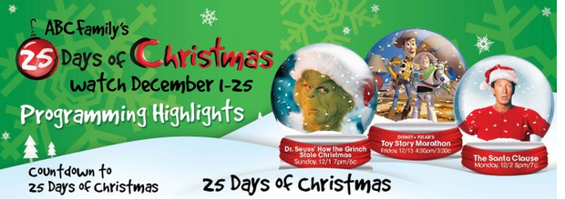 Abc Family 25 Days Of Christmas.Abc Family 25 Days Of Christmas Programming Schedule