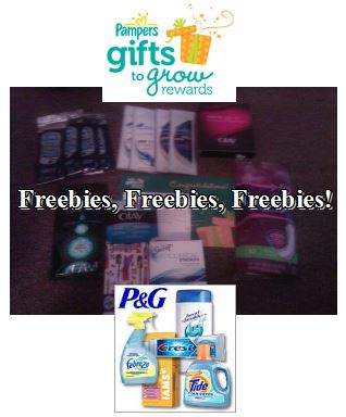 freebies from pampers and p&g