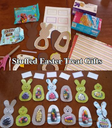 stuffed easter treat gifts