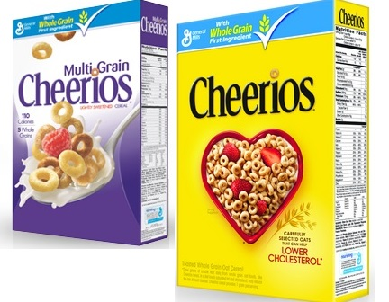 BOXES Cheerios cereals