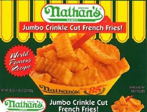 Nathan's Fries with Hot Dog purchase