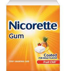 Nicorette Gum or Nicorette Lozenge