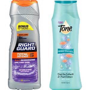 Tone or Right Guard Body Wash