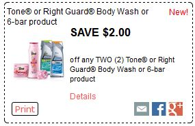 tone or right guard coupon