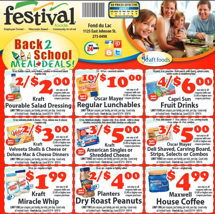 festival back to school meal deals