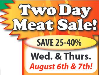 festival two day meat sale