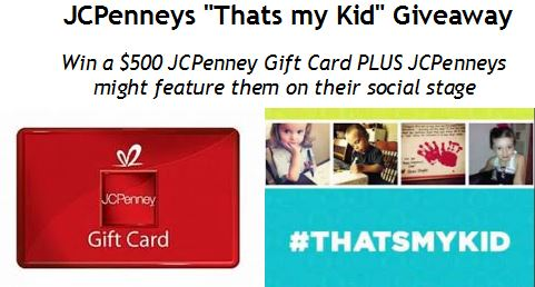 jcpennys thats my kid giveaway