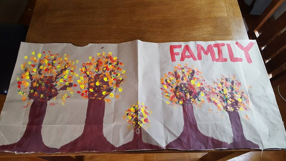 Family Tree Hand Print Kids Craft Project