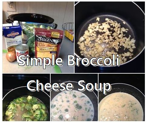 simple broccoli cheese soup