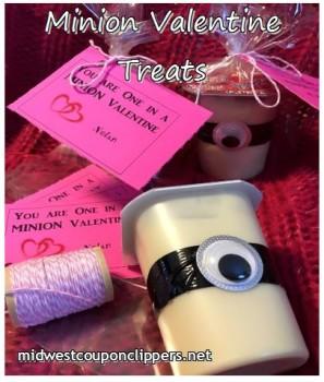 minion valentine treats