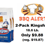 Home Depot: 2-Pack Kingsford 18.6 Lb. Charcoal Briquettes Only $9.88 (reg. $19.87)
