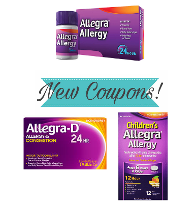 picture regarding Allegra D Coupons Printable called Printable Coupon: Help save $4.00 upon A single (1) Allegra Allergy