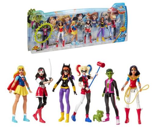 Harley Quinn /& Beast Boy NEW DC Super Hero Action Figure 6pk w// Wonder Woman