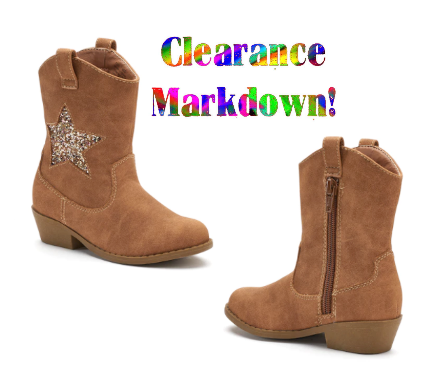 Clearance: Toddler Girls' Cowboy Boots