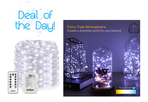 Deal Of The Day Led String Lights With Remote 9 20 Reg