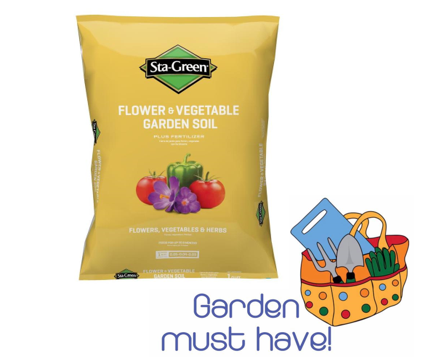 Sta green 1 cu ft flower and vegetable soil 2 reg free store pick up for Sta green garden soil