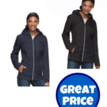 Kohl's: Women's Wildflower Hooded Mixed-Media Jacket $30.79 (reg. $90)