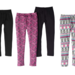 Faded Glory Girls' 2-pack Legging Set $3 (reg. $9.47)