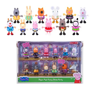 941d73024b1 Peppa Pig Fancy Dress Party Figures – 12 Pack $15 (Reg. $30)