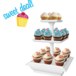 3 Tier Cupcake Dessert Stand Tray $8.37 with In Store Pick Up Discount