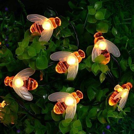 Solar Powered String Lights 30 Led Honey Bee Shape 13 99