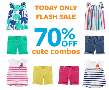 The newest Kids' Clothing coupon in Carter's - Ending Soon: 70% Off + Extra 20% Off $40+ Flash Sale @ Carter's. There are thousands of Carter's coupons, discounts and coupon codes at soundinstruments.ml, as the biggest online shopping guide website.