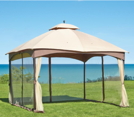 Hampton Bay Massillon 10 Ft X 12 Ft Double Roof Gazebo