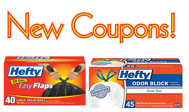 Coupons for kitchen trash bags