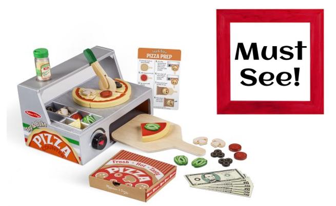 Amazon Or Walmart Melissa Doug Top And Bake Wooden Pizza Counter Play Food Set Reg