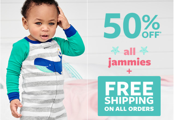 a9f54df99 Carter s  50% off all Jammies + FREE Shipping!