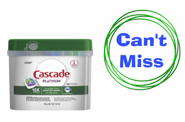 graphic relating to Cascade Coupons Printable identified as Printable Coupon: Help you save $0.50 upon Cascade Platinum ActionPac