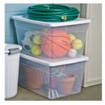 Sterilite 56 Qt Clear Storage Box White Lid $4.49 (Reg. $5.99)