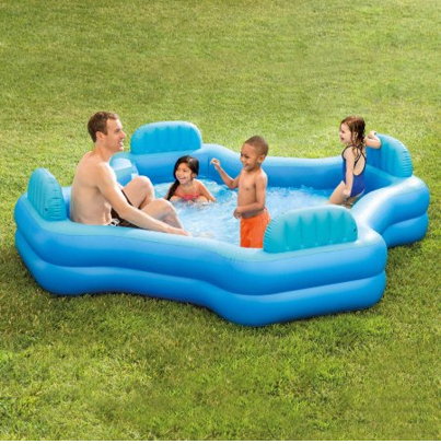 Intex Inflatable Swim Center Family Lounge Pool Free Shipping