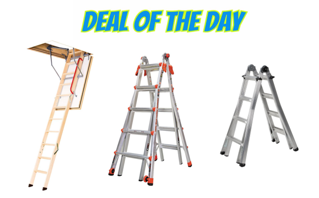 Deal Of The Day Save On Ladders Free Shipping