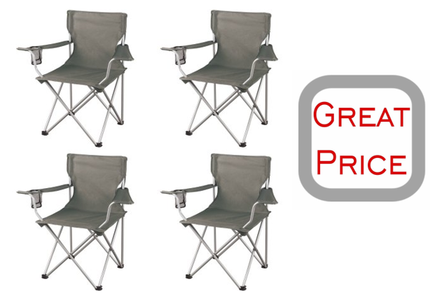 Ozark Trail Regular Arm Chairs Set Of 4 Only 27 52