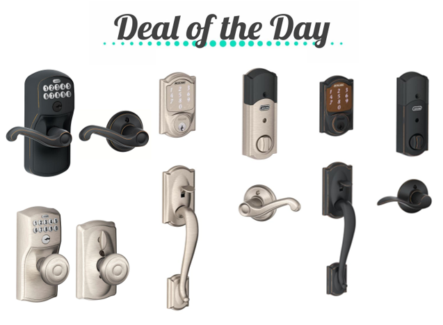 Deal Of The Day Save On Schlage Electronic Door Locks
