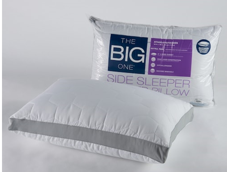 kohl s the big one quilted side sleeper pillow reg. Black Bedroom Furniture Sets. Home Design Ideas