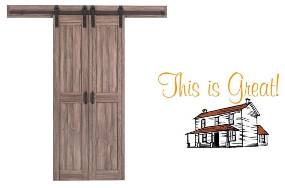 Solid Core Barn Interior Door With Hardware 199 00