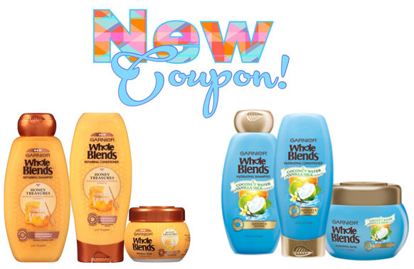 photo about Garnier Whole Blends Printable Coupon identified as Conserve $2.00 upon (1) Garnier Total Blends Shampoo, Conditioner
