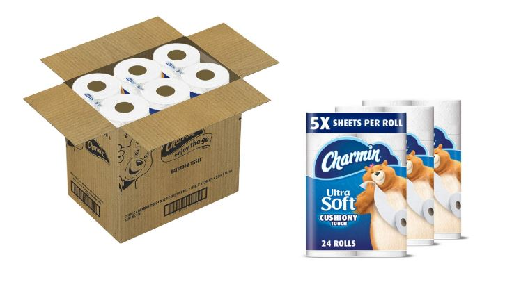 graphic regarding Charmin Printable Coupon named Amazon Inventory Up! 24 Loved ones Mega Rolls of Charmin Extremely Smooth