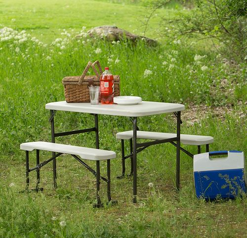 Terrific Portable Folding Camping Rv Picnic Table And Bench Set Squirreltailoven Fun Painted Chair Ideas Images Squirreltailovenorg