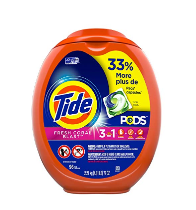 96 Count Tide Pods Fresh Coral Blast Scent Laundry