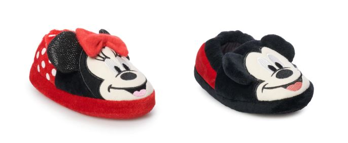 d9e74370530ec Clearance: Disney Mickey or Minnie Mouse Toddler Slippers ONLY $3.14 ...