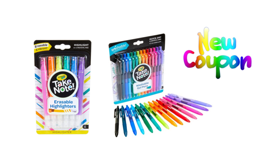 picture regarding Crayola Printable Coupons named Uncommon Printable Coupon: Help save $1.00 upon (1) Crayola Consider Take note