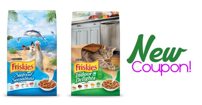 Printable Coupon Save 1 00 On 1 Bag Of Friskies Dry Cat Food