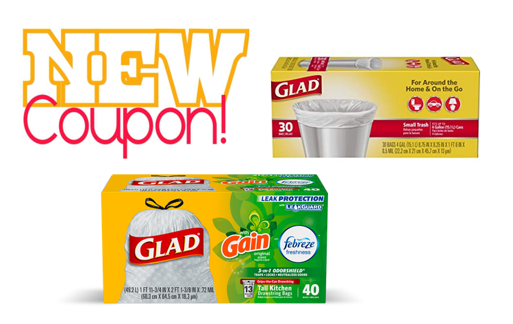 image regarding Glad Trash Bags Printable Coupon called Printable Discount coupons: Help you save $1.75 upon Content Kitchen area Trash Baggage