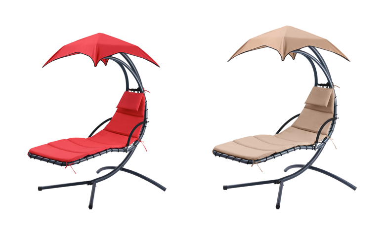 Hanging Sunshade Canopy Chair with Umbrella Lounge $115.99 ... on Dollar General Chaise Lounge id=68785