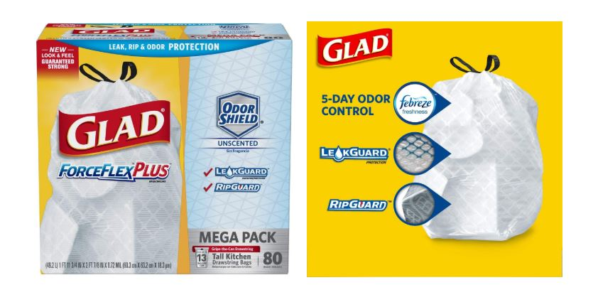 Stock Up 90 Count Glad Tall Kitchen Drawstring