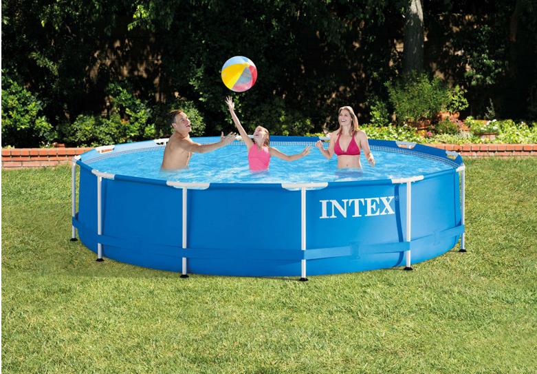 "Intex 12′ X 30"" Metal Frame Above Ground Swimming Pool"